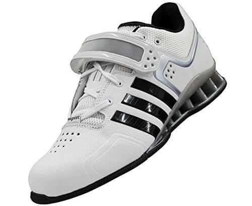 Adidas Adipower Gewichtheberschuhe in weiß schräg