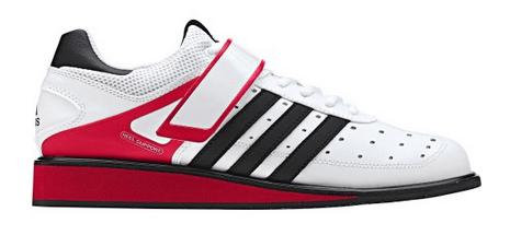 Adidas Power Perfect 2 Gewichtheberschuhe Test in weiß und rot